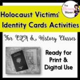 Holocaust Victims Identity Card Activities for ELA, Histor