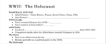 Holocaust background info powerpoint for Night 2 of 2