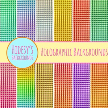 Holographic Paper Backgrounds : Digital Papers / Patterns