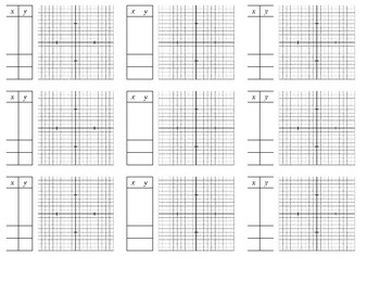 Holt Algebra 1 - Chapter 9 Graphs with Blank Table (set of