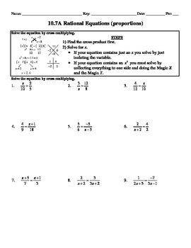 Holt Algebra 10.7A Solving Rational Equations (proportions
