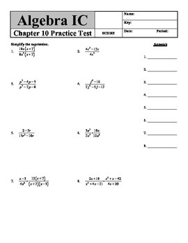 """Holt Algebra Chapter 10 """"Rational Functions & Equations"""" P"""