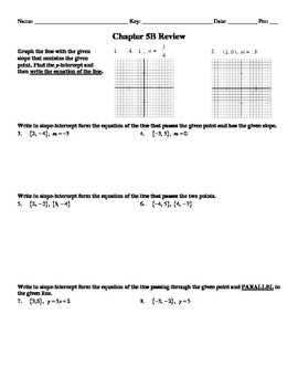 """Holt Algebra Chapter 5B """"Linear Functions"""" + Ch 4 Review W"""