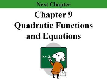 """Holt Algebra Chapter 9 """"Quadratic Functions & Equations"""" P"""