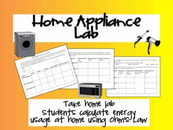 Home Appliance Lab- Calculating Energy Costs