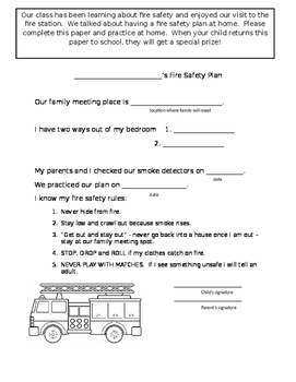 Home Connection Fire Safety Plan