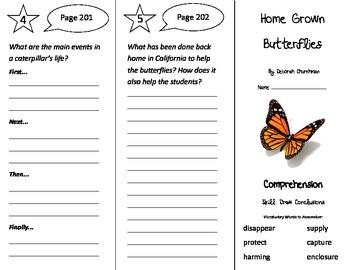 Home Grown Butterflies Trifold - Treasures 3rd Grade Unit