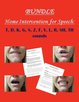 Home Intervention for Speech Bundle: T, D, K, G, S, Z, F,