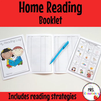 Home Reading Booklet with Reading Strategies