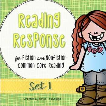 Reading Response at Home, 6 Weeks, Common Core Reading {Set 1}