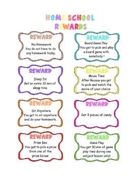 Home School Class Rewards