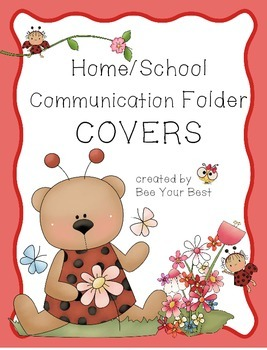 Folder / Binder COVERS in Ladybug & Bear Theme