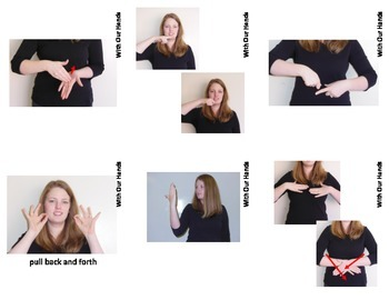 Home Series: Bathroom Sign Language (ASL) Vocabulary Cards