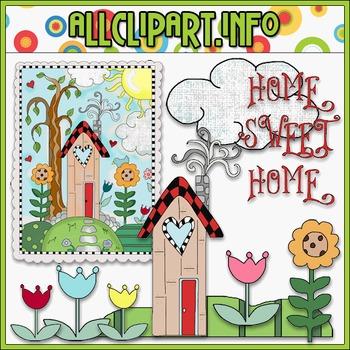 Home Sweet Home Clip Art - Cheryl Seslar Clip Art