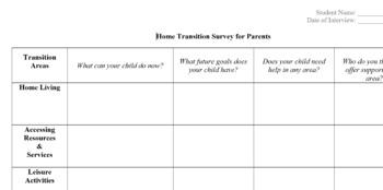 Home Transition Survey- Parent Interview