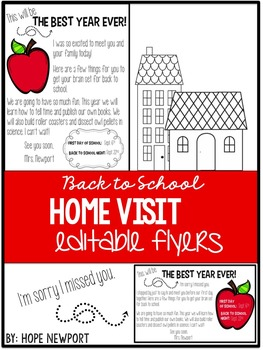 Home Visit Flyers {Editable}