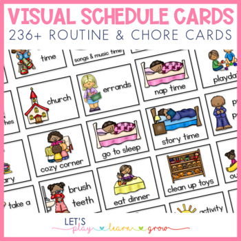 Home Visual Schedule/Routine for Toddlers and Preschoolers