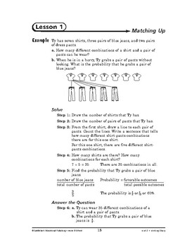 Home and School Math: Looking Sharp-Matching Up