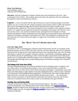 Home (by Toni Morrison) Chapters 3-4 Close Reading Activity