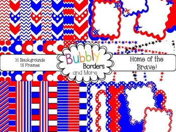 Home of the Brave!~ Chevron, Polka Dots & Striped Backgrou