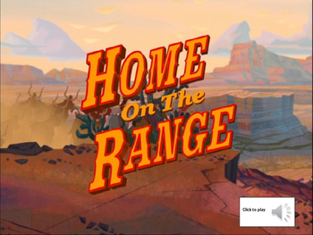 Home on the Range- Key of D