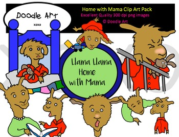 Home with Mama Clipart Pack