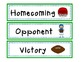 Homecoming Math and Literacy Mini Book & More