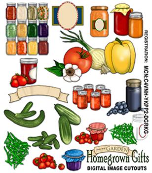 Homegrown Garden Clipart