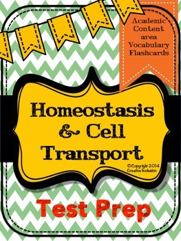 Homeostasis and Cell Transport Vocabulary