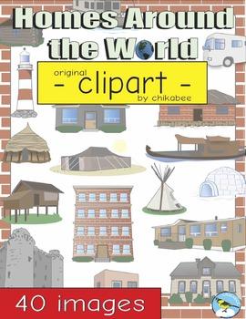 Homes Around the World Clip Art
