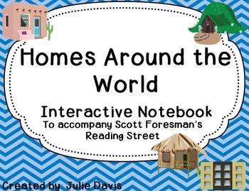 Homes Around the World Interactive Notebook Journal