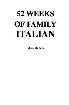 Homeschool Beginner's Italian Program