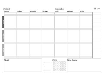 Homeschool, Home Life Planning System