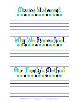 Homeschool Mission Statement Printable PDF