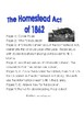 Homestead Act:  Information Sheet and Booklet