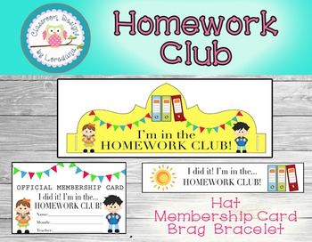 Homework Club Membership Pack