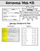 Homework Packet 26