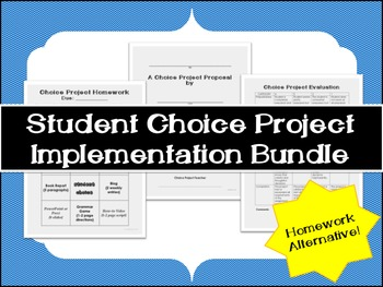 Homework Alternative: Student Choice Project Implementatio