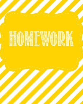 Homework Binder Cover