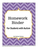 Homework Binder for Kids with Autism