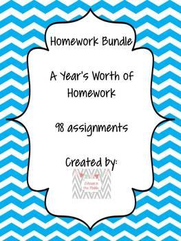 Homework Bundle! Grade 6