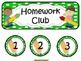 Homework Club in Green Polka Dot Print with Pencil