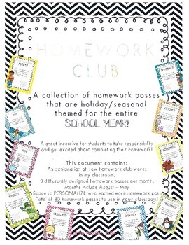 Homework Club Preview FREEBIE!