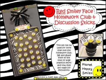 Homework Club ~ Red Smiley Face and Zebra Print