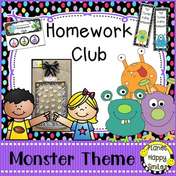 Homework Club and Bookmarks, Monster Theme