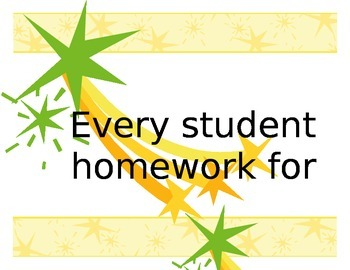 Homework Completed Chart