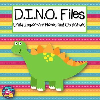 D.I.N.O. Files Homework Folder
