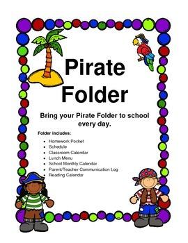 Homework Folder Pirate Theme