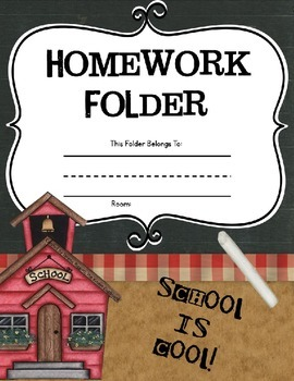 Homework Folders { Kindergarten }