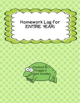 Homework Log for ENTIRE YEAR